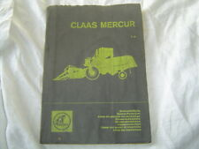 Claas Mercur combine parts catalog manual book