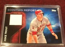 Mike Trout 2016 Topps Scouting Report Relics #SRR-MT, Los Angeles Angels MVP