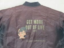 *CHARLES CHEVIGNON VINTAGE BOMBER JACKE*GET MORE OUT OF LIVE*ROAD*GR: L*TIP TOP