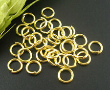 50pcs Gold plated Open Jump Ring Connector 6mm jewelry findings connector DIY