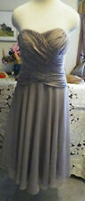 Wedding dress brown chiffon bridesmaids evening cocktail formal dress L ??