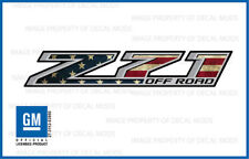 Z71 Off Road Decals Stickers 2014 2015 2016 2017 2018 American Flag Worn FWFLAG