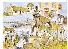 Scotland Postcard - Views of Robert Burns - The Great Bard of Scotland    CC949