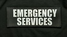 3x8 EMERGENCY SERVICES Black Tactical Hook Chest Rig Plate Carrier Patch EMS EMT