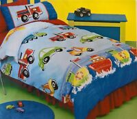 ~ On the Move- DOONA SINGLE BED BEDROOM QUILT DUVET COVER Car Truck Boat Vehicle