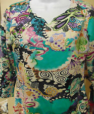 Parsley & Sage Women's Patterned top Small