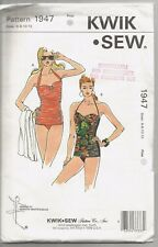 Kwik Sew Pattern 1947, Retro Style Ruched Swimsuits, Adult 6 - 12, OOP, Uncut
