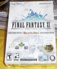 FINAL FANTASY XI Big Box Online Game for PC W/ Expansion Pack- BRAND NEW