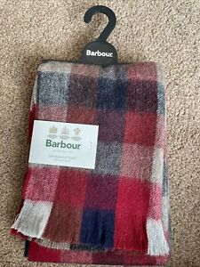 BNWT £32.95 Barbour Mens Nine Square 100% Lambswool Check Scarf