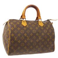 LOUIS VUITTON SPEEDY 30 HAND BAG AUTHENTIC SA MONOGRAM VINTAGE M41526 A51731