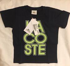 100% Genuine Lacoste Sport Boys Classic T-Shirt Black 4 Years Old BNWT