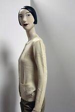 Cardigan Beige Strickjacke 45% Wolle True Vintage 70er NOS ungetragen OvP