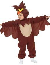 Toddler Girls Boys Brown Owl  Bird Animal Carnival Fancy Dress Costume Outfit