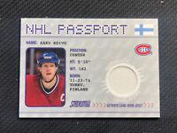 2002-03 TOPPS STADIUM CLUB SAKU KOIVU NHL PASSPORT GAME-WORN JERSEY #NHLP-1