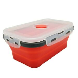Silicone Lunchbox Dinnerware Food Container Tableware Folding Bento Box Portable