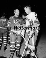WHA 1970's Bobby Hull Winnipeg Jets & Gordie Howe Houston Aeros 8 X 10 Photo Pic