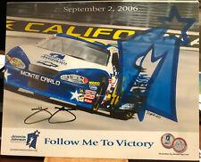 2006 Jimmie Johnson SIGNED Fontana California Race JJ Foundation Dated Hero Card