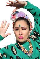 Mermaid Shell Starfish Pom Pom Flower Crown Headband Festival Boho Frida Kahlo A