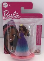 """Mattel 3"""" Barbie African American Princess Figure Micro Collection Cake Topper"""