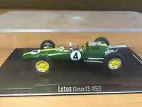 "DIE CAST "" LOTUS CLIMAX 25 - 1963 "" FORMULA 1 RBA  SCALA 1/43"