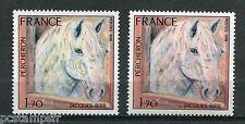 FRANCE  1978, VARIETE COULEUR, timbre 1982, CHEVAL, PERCHERON, neufs** VARIETY