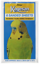 "Sand Sheets 55cm x 30cm 22"" x 12"" KAGESAN Budgie Canary ect x 6 Sheets"