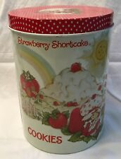 Strawberry Shortcake Vintage Cookie Tin Cheinco 1980 American Greetings