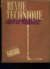 (C16) REVUE TECHNIQUE AUTOMOBILE OPEL OPLYMPIA / Boîte Wilson T 10