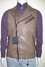 Size 38 Leather Vest  Slim Fit 100% Sleeevesless MACKAGE Leather Jacket 38US=48E