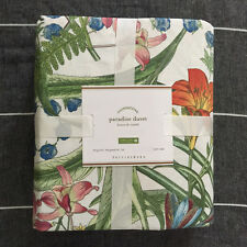 Pottery barn Paradise King Duvet Cover only green  tropical