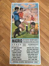 POSTER ITALY GERMANY 1982 FINAL WORLD CUP SPAIN 82 ESTADIO SANTIAGO BERNABEU