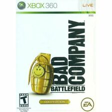 XBOX 360 Battlefield Bad Company Video Game - Multiplayer Online Gold Edition