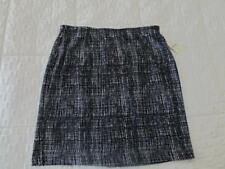 NEW* COLDWATER CREEK* BLACK & WHITE SOFT KNIT PENCIL SKIRT 16P *NWT* $79.95