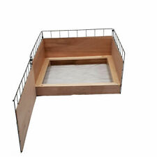 Puppy Dog Whelping Box 1m x 1m With Timber Sides & Pig Rails Play Pen Fence