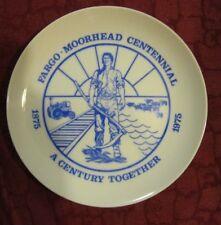Fargo-Moorhead Centennial a Century Together 1975 Glass Plate