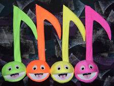 4 Blacklight Music Note Puppets for Performance, Ministry, Music Education