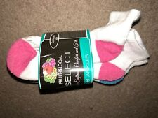 3pk New Fruit of the Loom Ankle Socks- Size 8-12- cushioned sole