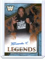 WWE Booker T 2017 Topps Legends Bronze Authentic Autograph Card SN 9 of 99