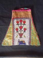 Ancien sac a main brodé de perles , Banjara , Rabari , Inde