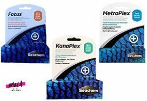 Seachem 3 Piece Treatment Kit, 1-Focus, 1-Metroplex, and 1-Kanaplex 5 g