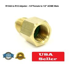 """Refrigerant TANK ADAPTER A/C R134A to R12,Can Tap1/4"""" FEMALE FLARE w/O-RING 1/2"""