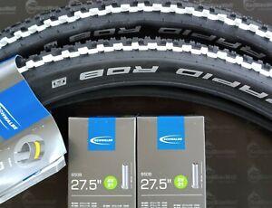 Schwalbe Rapid Rob 2 x  Reifen 27,5x2,25 (57-584) schwarz/weiss MTB