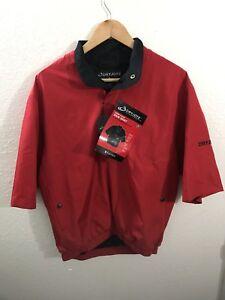 DRYJOYS By FOOTJOY Short Sleeve Rainshirt Windbreaker XS Red Golfing Jacket