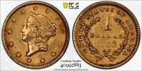 1853 $1 Gold Dollar Princess PCGS AU Details Certified Pre U.S. Civil War #2883