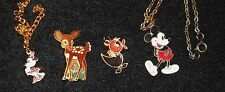 Mickey Mouse Pin Disney Enamel Trading Vintage Tweety Bambi Necklace Bracelet