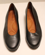 """Womens Black Leather BEAUTIFEEL Med Heel Shoes Size 36 1/2 Sole marked """"36 Latex"""