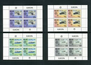 BELIZE 2006 Anniversary Europa stamp Set of 4 Sheets SG 1332-1335 MNH    Sale