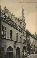 Schaffhausen Switzerland Suisse AK ~1910 Straßenpartie mit Rathaus ungelaufen