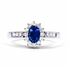 Engagement Not Enhanced Sapphire White Gold Fine Rings