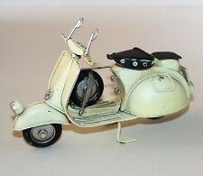 Metal Art Tin Model - SCOOTER Motorbike (Cream) Ornament (17cm)